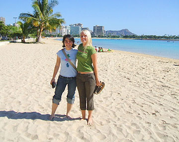 Dominique and me in Honolulu